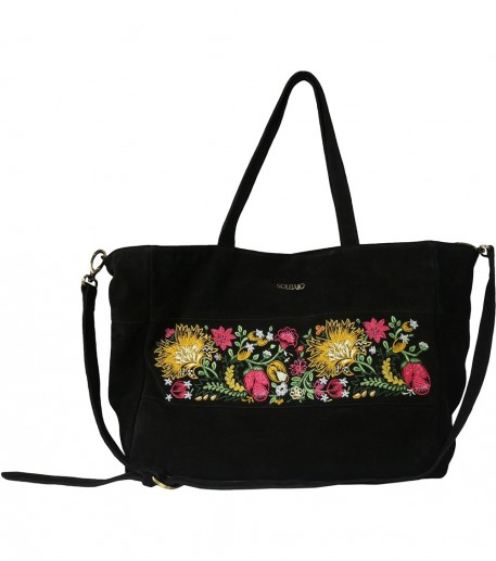 California embroidered black bag