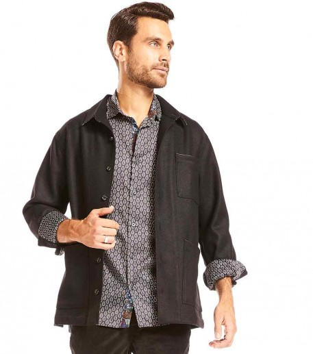 "Men's ""Carmen"" black overshirt"