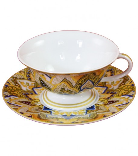 """Plumes"" yellow teacup"