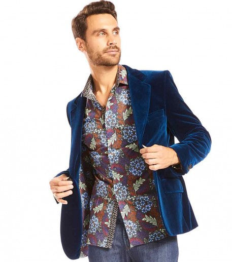 "Men's ""Dandy"" midnight blue jacket"