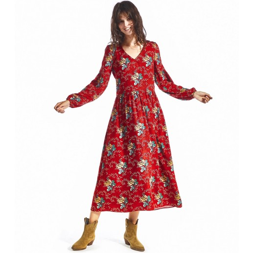 Robe CATHERINE Amandier rouge