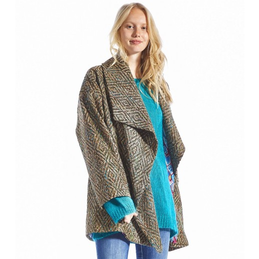 Manteau ISAAC vert turquoise