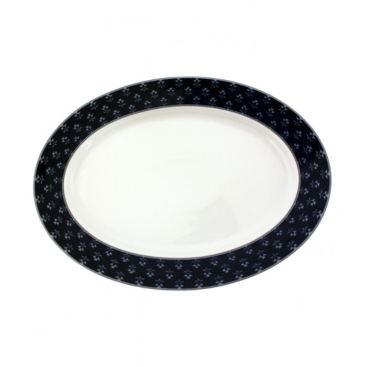 Plat ovale collection «Barbentane » 25x35 cm