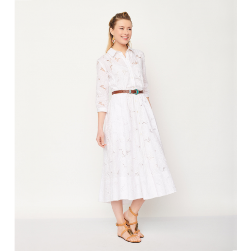 Robe KELLY broderie anglaise blanc
