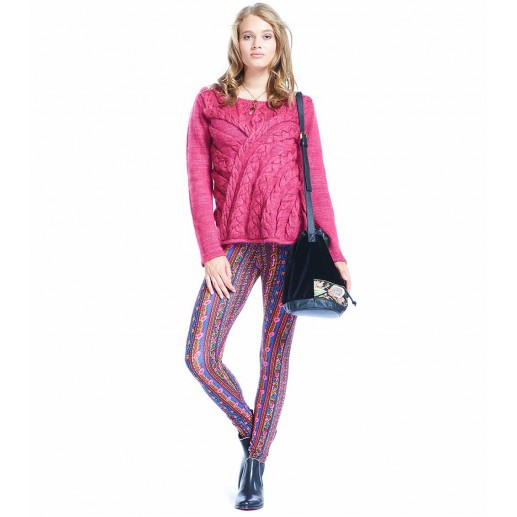 Legging LOUIS Barbentane bordeaux/rouille