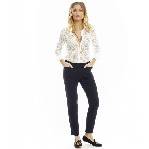 Pantalon slim LAETITIA Noir