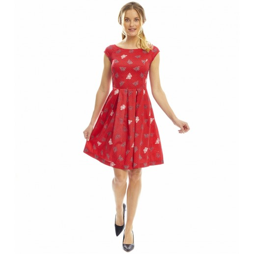 "Robe Romane ""Papillons"" rouge"