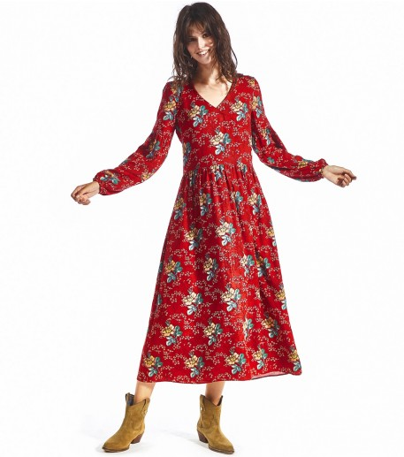 Robe Caterine Amandier rouge