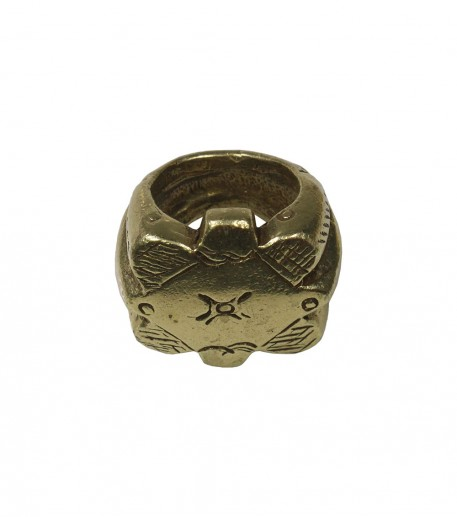 "Bague gypset ""Lune"" finition bronze"