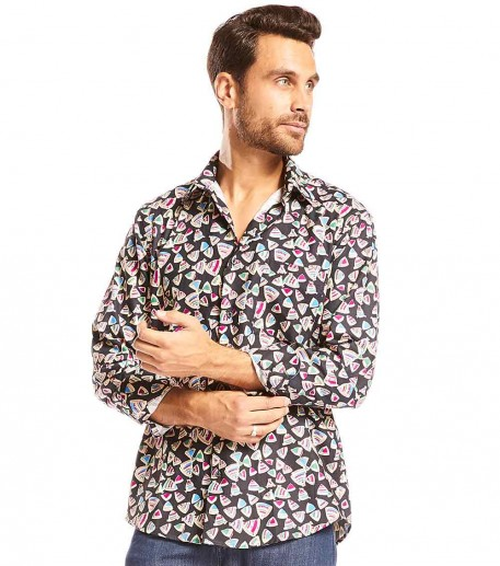 "Chemise homme droite ""Butterfly"""