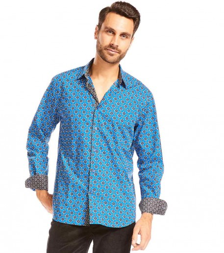 "Chemise homme droite ""Mille roses"""