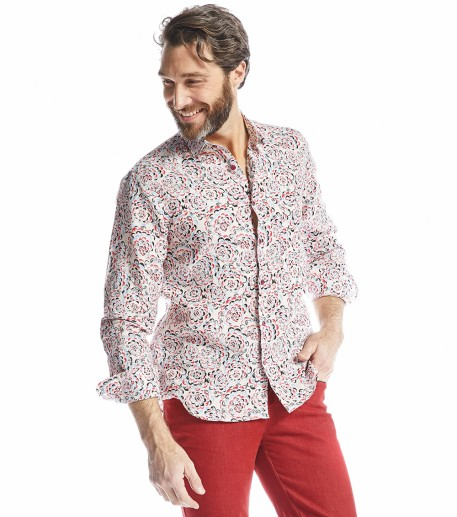 "Chemise homme droite ""Happening"""