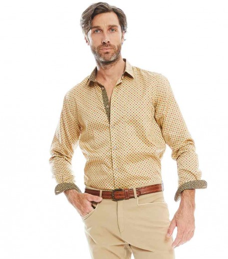 "Chemise homme droite ""Trident"""