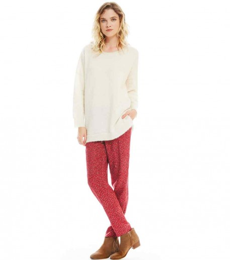 "PANTALON LOOSE ""ALAMBRA"" BORDEAUX"