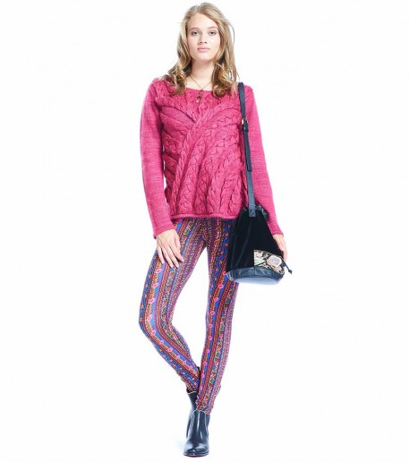 "Legging Louis ""Barbentane"" bordeaux/rouille"