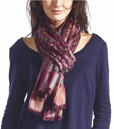 Pashminas Cramberry rose