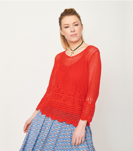 Pull MAZET rouge