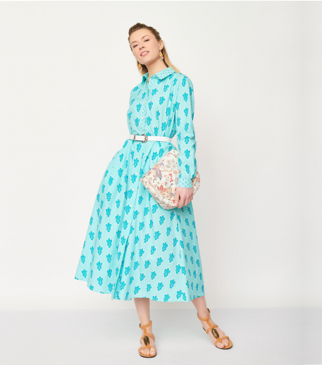 Robe KELLY Grosse Mouche turquoise